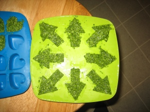 Pesto before frozen